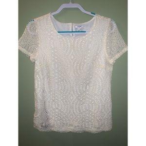 JCREW White Lace Blouse